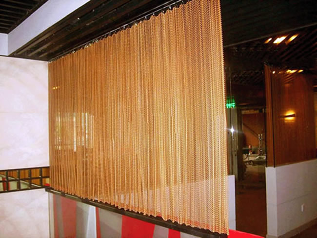 High Quality Chain Link Mesh Curtains For Partitions