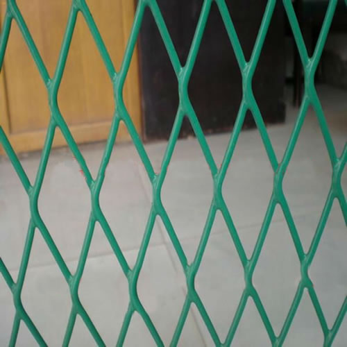 Green PVC Coated Expanded Mesh
