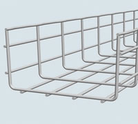 Hot Dipped Steel Wire Basket Cable Tray for Wiring Arrangement